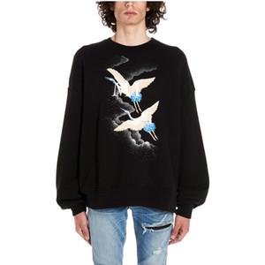 Известный бренд мужские дизайнерские толстовки роскошные толстовки хип-хоп мода Мужчины Женщины высокое качество пуловер толстовка с длинными рукавами размер S-XL