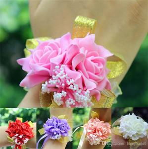 2019 di nozze e matrimoni merci da sposa Spose polsi di emulazione polsi creativo damigella d'onore del fiore della mano fiore sorella coreana