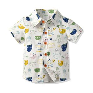 Children's clothing, boys' children's clothing, summer cotton short-sleeved shirt, shorts, back tie, 4-piece set Gifts for children