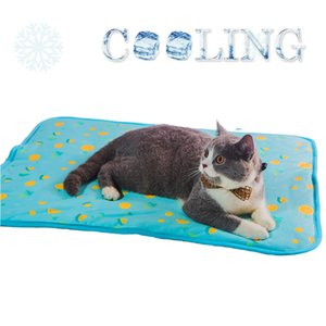SEIS Dog Ice Pad Ice Silk Cats Kennel Easter Eggs Mat Pet Cooling Pad Summer Cool Bamboo Mat Breathable Pad