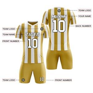 Profesyonel Erkekler Çocuklar boş kısa kollu futbol forması gençlik boyun futbol boys forması Spor Seti Giyim