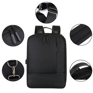 Spalla Uomo Donna singolo lavoro quotidiano Zipper antifurto con porta USB morbida Tote Laptop Backpack Accessori Student impermeabile