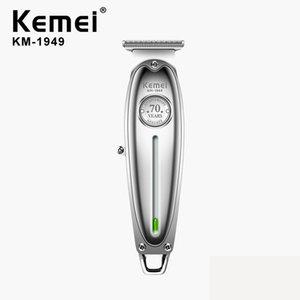 Kemei 1949 Hair Fashion Professional Clipper Homens recarregável cabelo aparador de precisão Ferramentas de corte de cabelo máquina elétrica Saloon