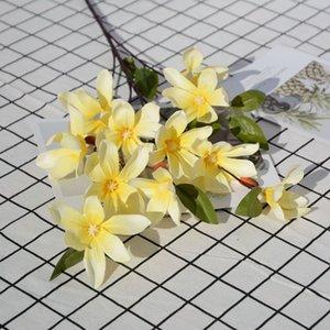 Fiore artificiale magnolia singola seta finto fiore soggiorno decorazione della casa matrimonio strada piombo giardino corona accessori decorativi