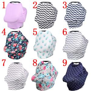 Baby Car Seat Canopy copertura Allattamento Nursing Sciarpa Cover Up Grembiule Shoping Carrello Infant Passeggino sonno da Nursing copertura 27.5 * 27.5 * 12.5inch
