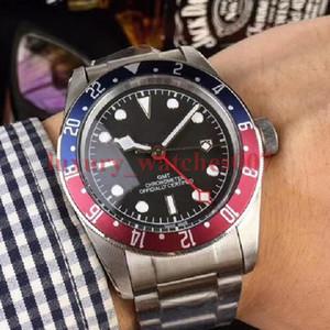 Роскошные наручные часы Vintage Mens Asia 2813 Движение Автоматическое механическое движение из нержавеющей стали Модный бренд мужские часы наручные часы