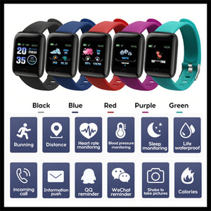 Fitness Tracker ID116 Bracciale intelligente PLUS con frequenza cardiaca intelligente pressione sanguigna Wristband 116 PLUS F0 per Fitbit MI Banda 116Plus