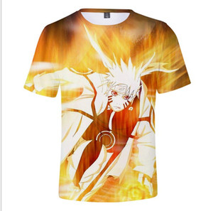 2019 Explosion Models Naruto Print 3D Digital Short-Sleeved Adult Childrens Wear Men And Women Trend Youth Casual Short Sleeve