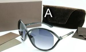 Gafas de sol de alta calidad de alta calidad 0394 Tom para hombre y mujer Erika Eyewear Ford Designer Brand Gafas de sol con estuche original