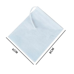 Medcine Bags Non-Woven Seal Filter Drawstring Pouch Multifunction Tea Bags Cook Herb Spice Tools Coffee Pouches 50Pcs Lot Teaware Sets