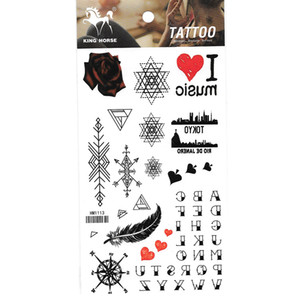 2019 New fashion brand 10pcs lot drop shipping mix design waterproof temporary flower arm leg tattoo sticker