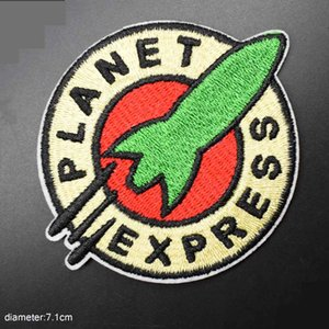 Planet Express Space Iron on Lovely Embroidered Cloth Patch For Girls Boys Clothes Stickers Apparel Garment
