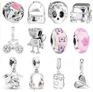2019 İlkbahar gevşek boncuk Yaşam Anları Gümüş 925 Charms Pandora Orijinal Bilezik Bilezik Karikatür DIY takı Boncuk Asma uyuyor