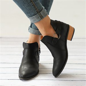 Ryamag Metall Dekoration Frauen Winterstiefel Beleg auf Frauen-verursachende Ankle Boots-Plattform-Schuhe Frau Creepers Gummiflach