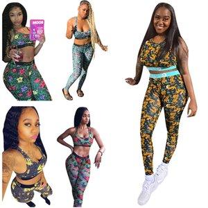 Fashion Women Swimsuit Tiger Letter Print Two Piece Outfits Push Up Bra Vest Tanks + Leggings Pants Swimwear Bodycon Trend Sportswear Suit