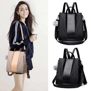 Tasarımcı-Kadın hırsızlık sırt çantası bağbozumu sırt çantaları rahat kadın büyük kapasiteli kadın okul çantası Seyahat açık depolama paketi FFA2013