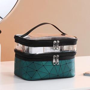 Multifuncional Viagem Limpar Makeup Bag Moda Diamond Cosmetic Bag Artigos de higiene pessoal Organizador impermeáveis fêmeas armazenamento Make Up Cases