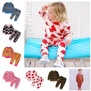 INS Kids Spring Autumn Outfits Long Sleeve Hoodies Sweatshirt + Pants Two Piece Set Boys Girls Sweater Trousers Sports Tracksuit Top Quality