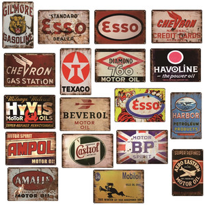 Ampol Castrol ESSO BP Vintage Motor Oil Gasoline Sinclair Metal tin Signs Retro Poster Man Cave Bar Pub Garage Decor Gas Station Wall Plaque