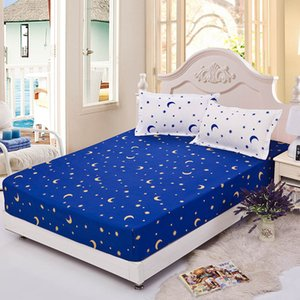 100% Polyester Fitted Sheet Mattress Cover Printing Bedding Linens Bed Sheets with Elastic Bed Protector Double Queen King Size
