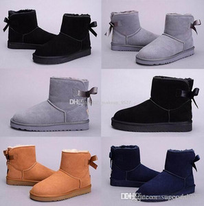TOP Quality New WGG Women's Australia Classic kneel Winter Boots Ankle boots Bailey Bowknot bow Women girl boots US 5--10 gift