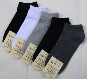 Men's Short Boat Socks High Quality Polyester Breathable Casual 3 Pure Color Sock for Men