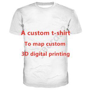 Summer 2020 men's round neck short-sleeved T-shirt 3D digital printing T-shirt A custom t-shirt Adult children's size 110-6XL