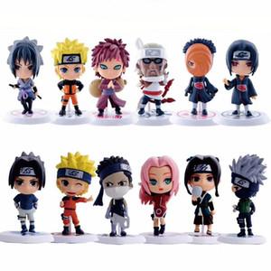 6pcs / lot 7 centimetri Modello bambola Anime Naruto Figure Toy Sasuke Kakashi Sakura Gaara Itachi Obito Madara Killer Bee mini per i bambini D