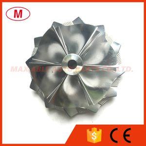 GT15-25 51.90 / 64.00mm 6 + 6 lâminas De Alta Performance Turbo Billet Compressor roda / Aluminum2618 / Milling comprssor roda