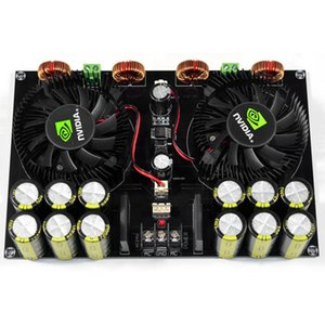 Tda8954Th Audio Digital Power Amplifier Board 420Wx2 High Power Two Channel With Fan Amplificador For 4-8Ohm Speaker