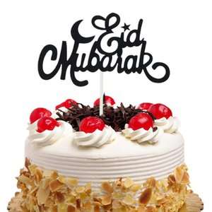 20 pc / lote Bolo Toppers Bandeiras Eid Mubarak Crianças Aniversário Cupcake Topper Da Noiva Do Casamento Do Chuveiro de Bebê Do Partido Do Ramadan Cozimento DIY