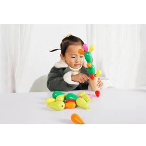 Holz Kinder angehäuft Blöcke Baby Hand nähen Kaktus Kaktus Puzzle Multifunktions Split montiert Spielzeug Weihnachtsgeschenk