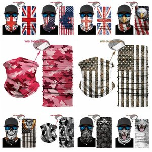 fashion USA Flag magic headscarf bandana cycling masks Head Neck Scarves Windproof Sport Camouflag face mask with FiltereT2I51008