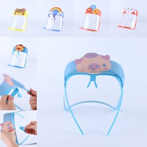 DHL Shipping Cartoon Face Shield for Kids Children Anti Dust Transparent Mask Full Face Sunglasses Holder Protective Masks Cover B163F