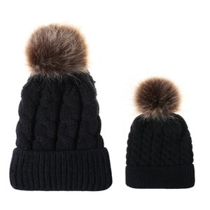 Fashion-Cable Twist Pattern Natural Raccoon Fur pompom Knitted Beanies Cap New Winter Women Warm Hats With Fur Ball cny1577