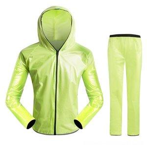 Sorgfältig gestaltete Rad Fahrrad-Raincoat Regen JacketPants Radfahren Protektoren Radfahren Set Wasserdicht Mantel Hosen schnell trocknend