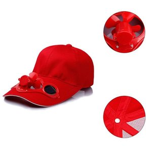 Outdoor Sports Hat With Solar Sun Power Cool Fan Summer Cycling Snapback Fishing Cap Fashion Wide Brim Baseball Accessories e