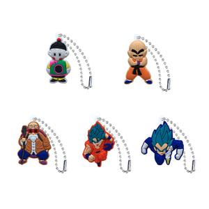 MOQ = 20pcs Dragon Ball Portachiavi Catene a sfera per sacchetti di scuola Abbigliamento Auto Portachiavi Accessori Moda Hang Decorazioni Ornamento Miglior regalo