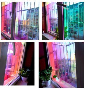 """Comprimento: 152 centímetros (60"""" ) do arco-íris janela Effect Foils decorativa Tint Solar colorido Film Window Film Início Supermercado Mall Use"""