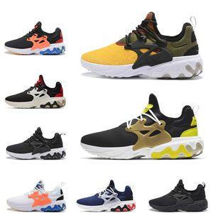 nike air presto react 2019 novo presto reage homens mulheres running shoes amarelo brutal mel arejado quinta-feira preto branco vermelho prestos mens sports sneakers tamanho 36-45