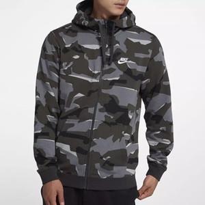 Marca de ropa para hombre de camuflaje sudaderas con capucha de la cremallera de hombre a hombre con capucha de moda Streetwear algodón de las tapas chándal hombres de la capa