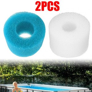 2 Stück wiederverwendbare / waschbare Pool Filter Foam Cartridge Sponge 93 * 30 * 102 MM Filter Foam Sponge