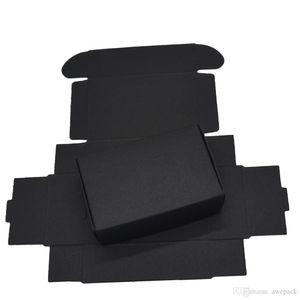 9.4x6.2x3cm Preto Caixas de papel para caixa de Decoração Cartão de presente de casamento Pacote Kraft Caixa de papel aniversário dos doces Crafts Embrulho 50PCS