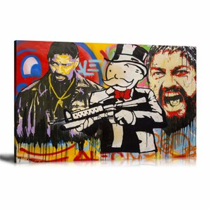 Alec Monopoly DENZEL MONOPOLY,HD Canvas Printing New Home Decoration Art Painting (Unframed Framed)