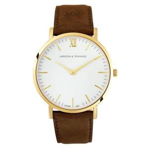 Presente Larson Jennings novos relógios de moda homens relógios relógio de quartzo impermeável montre homme