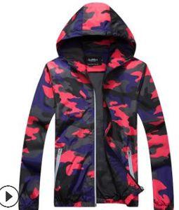2019 Новая осень Мужские куртки Камуфляж Мужской Hoodie Bomber Jacket Mens Ветровка на молнии Outwear Плюс Размер M-5XL