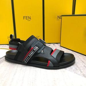 Venda quente-Designer de luxo dos homens Carta elástica flats Sandálias Novidade de alta qualidade verão Da Marca gladiador sandálias sapatos casuais Com caixa
