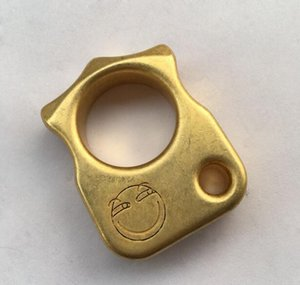 Neueste Messing EDC Single Finger Knuckle Duster Ring / Papiergewicht CNC gefräste 12 mm Dicke 23 mm Durchmesser Finger