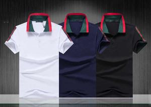2019 Luxury Europe Paris patchwork men Tshirt Fashion Mens Designer T Shirt Casual Men Clothes Cotton Tee luxury polo