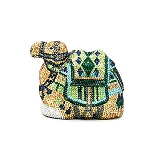 Ladies purses Bridal wedding party purse women evening party bag diamonds animal camel crystal clutches elegant crystal purse